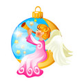 sketch with christmas tree decoration in form vector image vector image