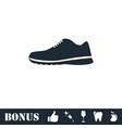 sneakers icon flat vector image vector image