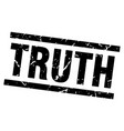 square grunge black truth stamp vector image vector image