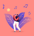 super star singing song woman cheering and vector image vector image
