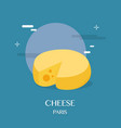 tasty cheese with blue background design vector image vector image