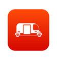 thailand three wheel native taxi icon digital red vector image vector image