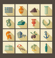 traditional symbols of greece vector image