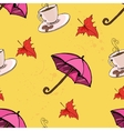 umbrella coffee leaf vector image vector image