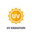 uv radiation ultraviolet icon vector image vector image