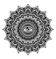 vintage mandala tattoo vector image vector image