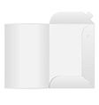 White open folder on white background vector image vector image