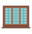 wooden brown tricuspid window icon isolated vector image vector image