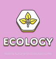 ecology colour icon in line design vector image