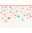 Valentines love greeting card background elements vector image