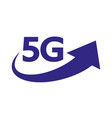 5g internet network logo isolated icon vector image vector image