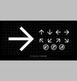 arrow icon modern standard sign arrows design for vector image vector image