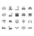 balance flat glyph icons set weight measurement