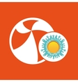beachball summer vacation sun splashes label vector image
