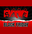 black friday sale bags on dark background vector image