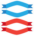 blue and red ribbon banner on white background vector image