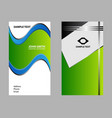 blue business card vector image vector image