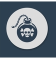 Bomb with skull and crossbones vector image vector image