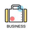 briefcase for businessman on white background vector image vector image