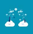 business team communication concept business vector image