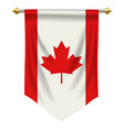 canada pennant vector image
