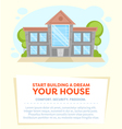 Cartoon house card vector image vector image