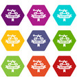 catapult icons set 9 vector image vector image