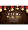 christmas greeting card with golden glitter vector image vector image
