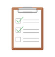 clipboard and checklist in flat design vector image