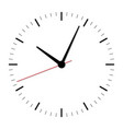 clock icon in flat style vector image