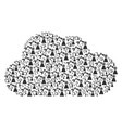 cloud composition of industrial robot icons vector image