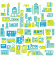 color hindu arabian urban architectural blue city vector image vector image