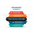 colorful part hexagon business infographics vector image