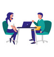 couple in the workplace vector image