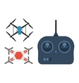 Drone quadcopter set vector image