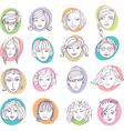 female portraits vector image vector image