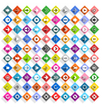 Flat arrow icon rhombus web button vector image