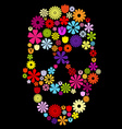 Flower skull in colors vector image vector image