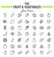 fruit and vegetables line icon set food symbols vector image vector image