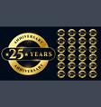 golden anniversary labels big set design vector image vector image