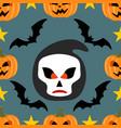 halloween background seamless with scytheman vector image vector image
