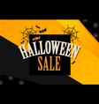 halloween sale design template with cobweb candy vector image