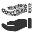 hand composition of service tools vector image vector image