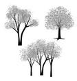 hand drawn black gray trees vector image vector image