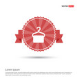 hanger with towel icon - red ribbon banner vector image vector image