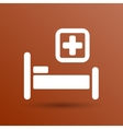 Hospital bed and cross icon doctor health vector image vector image