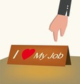 I love my job card business concept vector image