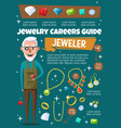 jeweler profession jewelry and gemstones vector image