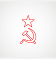 linear icon communism hammer sickle with a vector image