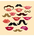 Lips and Mustaches vector image